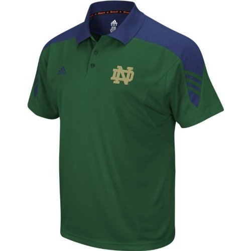 Notre Dame Fighting Irish adidas Green Scorch Premier Polo Shirt (Small)