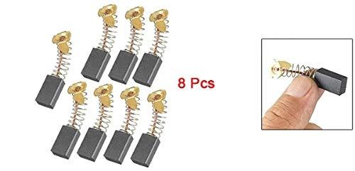 SALAKA 8 Piezas 6mm x 10mm x 16mm Escobillas de carb/ón de Repuesto y cepillos para el Cuidado de Motocicletas