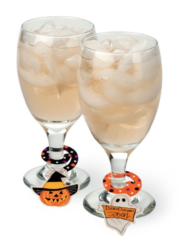 Penelope's Parties 12-Pack Paper Beverage Charms, Haunted