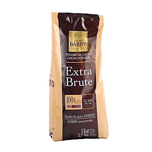 Cacao Extra Dark Chocolate - Cacao Barry Cocoa Powder 100% Cocoa Extra Brute, 2.2 lb