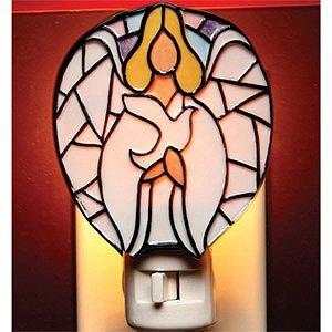 Cosmos Gifts 10506 Mosaic Glass Angel Nightlight, 3-1/2-Inch ()