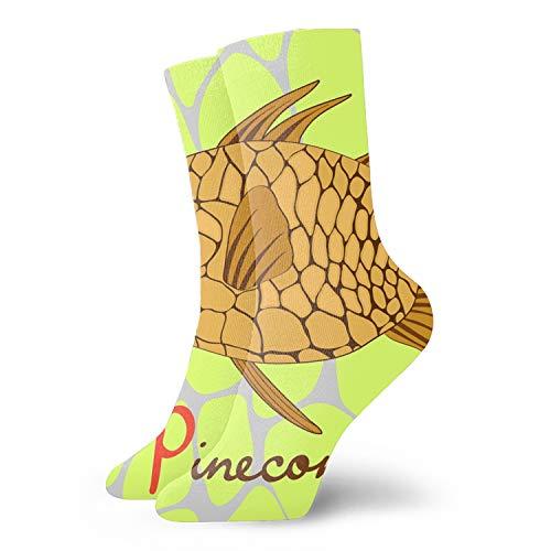 Unisex 3D Pinecone Fish Socks Crazy Tube Funny Novelty Polyester Fibre Socks ()