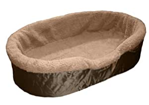 Mighty Mutz Pet Lounger, Sheepskin Inner with Tan Nylon Outside, X-Large, Tan
