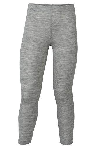 Kids Thermal Underwear: Leggings Pants Base Layer, Organic Merino Wool and Silk (EU-128 | 6-8 years, Grey)