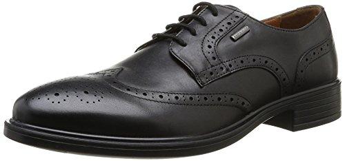 Geox U Yoris A Abx, Zapatos de Cordones para Hombre Negro (Black C9999)