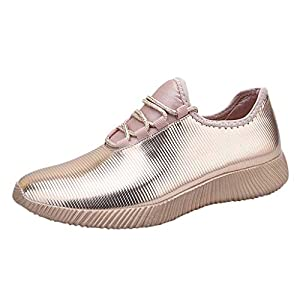 MTENG Women Fashion Mirror Series Sneakers Shoes Wild Reflective Casual Running Shoes (36-41)