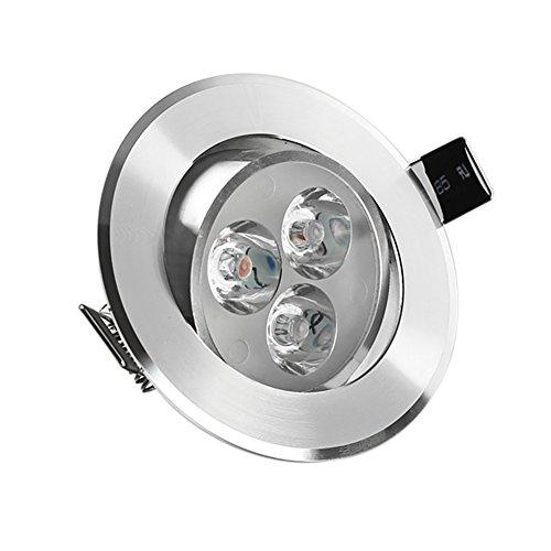 LED Recessed Ceiling Spot Light Daylight White 6500K 220V Anti-Dazzle Spotlight Lamp, 3W, 280 Lumen(Equivalent 30W)