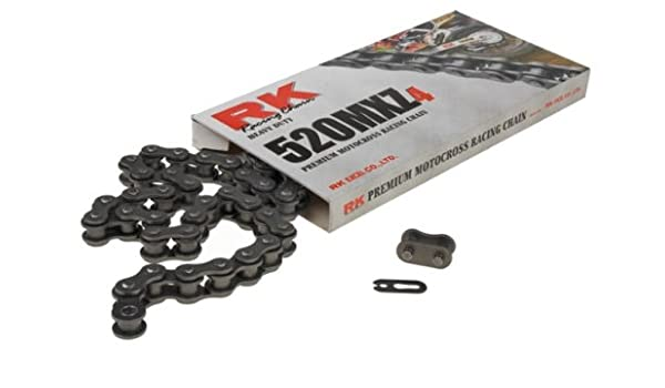 RK Racing Chain GB520MXZ4-118 118-Links Gold MX Chain with Connecting Link