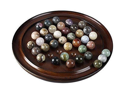 bolas de piedras semipreciosas hist/órico Franc/és solitario juego de mesa