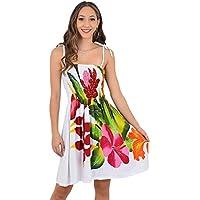 ISLAND STYLE CLOTHING Ladies Tube Dress Floral Hibiscus Batik Hawaiian Luau Party Swimsuit Cover Ups