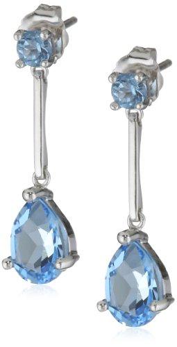 14k Gold Gemstone Teardrop Earrings