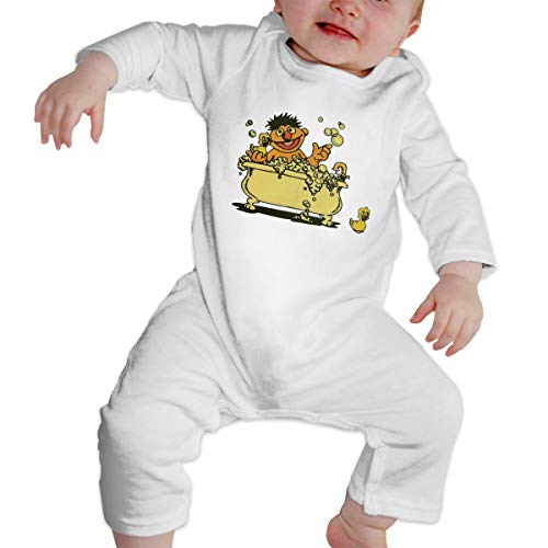 SININIDR Newborn Jumpsuit Infant Baby Girls Vintage Ernie in Bathtub Long-Sleeve Bodysuit Playsuit Outfits Clothes - Ernie Bathtub