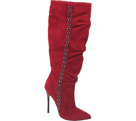 Red 10 PU 71 Microsuede US Highest Heel Fierce M Boot Women's OHXB1gnqCw