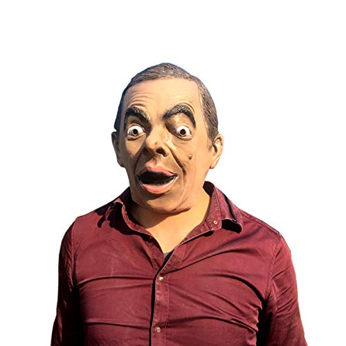JZB Vivid Natural Latex Funny Mr. Bean Full Face Cosplay Halloween Mask Props LJ09 for $<!--$19.49-->