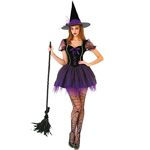 Wicked Witch Women's Halloween Costume Sexy Spellcaster Classic Fairytale Dress (Sexy Witch Halloween)
