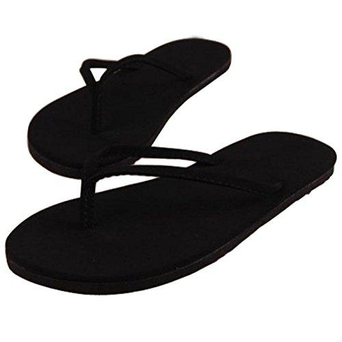 morecome Women Summer Flip Flops Slipper Indoor & Outdoor Flip-Flops (8, Black)