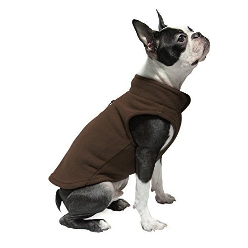 Gooby Every Day Fleece Cold Weather Dog Vest for Small Dogs, Brown, X-Large