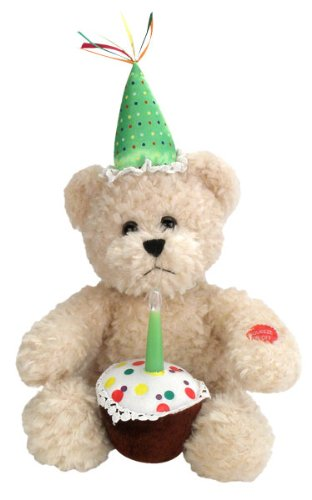"Chantilly Lane Blow Out Bear Sings ""Happy Birthday"" 10″ Plush"