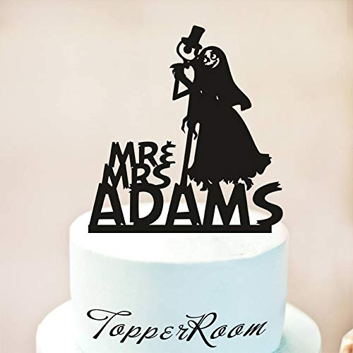 Wedding Cake Topper jack and sally cake topper