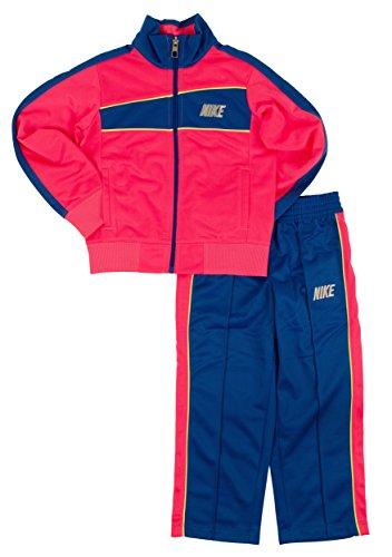 Nike Toddler Girls 2-Piece Colorblocked Tricot Jacket & Pants Set (6, Hyper Cobalt)