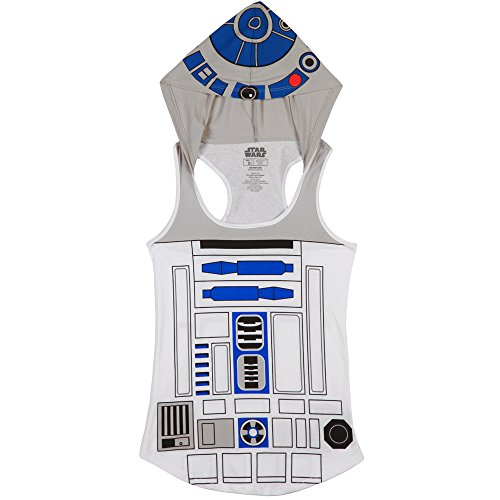 [Star Wars I Am R2D2 Hooded Juniors Tank Top (Medium, R2D2)] (C3po Mask)