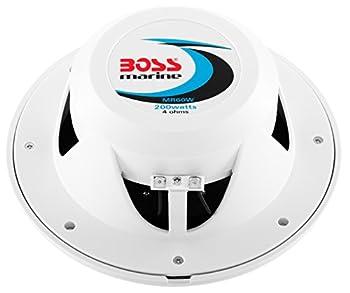 BOSS Audio MR60W 200 Watt (Per Pair), 6.5 Inch, Full Range, 2 Way Weatherproof Marine Speakers (Sold in Pairs)