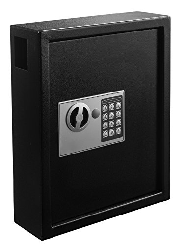 - AdirOffice 40 Keys Cabinet with Digital Lock - Electronic Key Safe - Pin Code Keyless Storage Box For Keys - Secure Steel Lock box - Scratch Resistant Powder Coated - Wall Anchor- Black