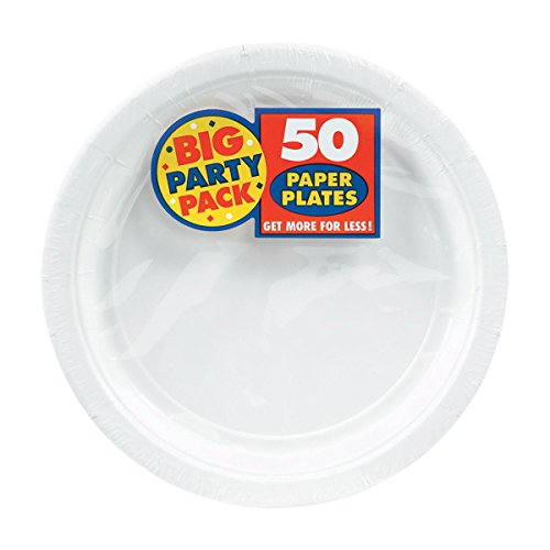Big Party Pack Paper Luncheon Plates 7-inch, 50/pkg White