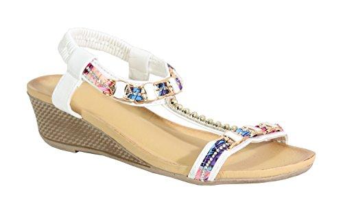 By Shoes - Sandalias para Mujer Blanco