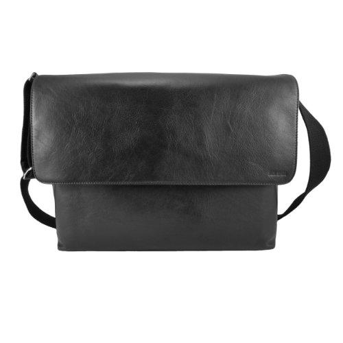 Computer Field Bag - Jack Spade Men's Grain Leather Computer Field Bag, Black