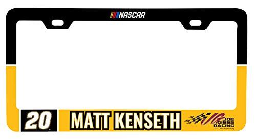 Matt Kenseth #20 Metal License Plate Frame