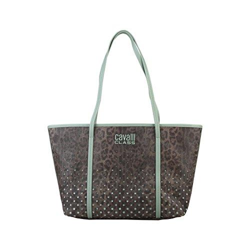 CAVALLI CLASS Shopping Bag, Donna Marrone/Verde Chiaro