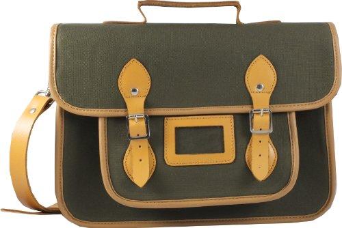 Oxford Bag Company - Bolso estilo cartera de lona para mujer verde Olive Green
