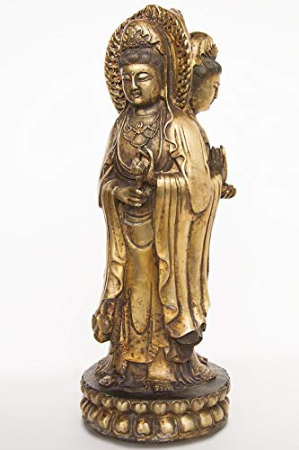 Home Comforts Canvas Print Art China Cast Gilded Guanyin Hands Bronze Asia Vivid Imagery Stretched Canvas 32 x 24