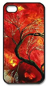 Abstract Art Floral Tree Painting Fresh Blossoms DIY Hard Shell Black iphone 4/4s Case Perfect By Custom Service