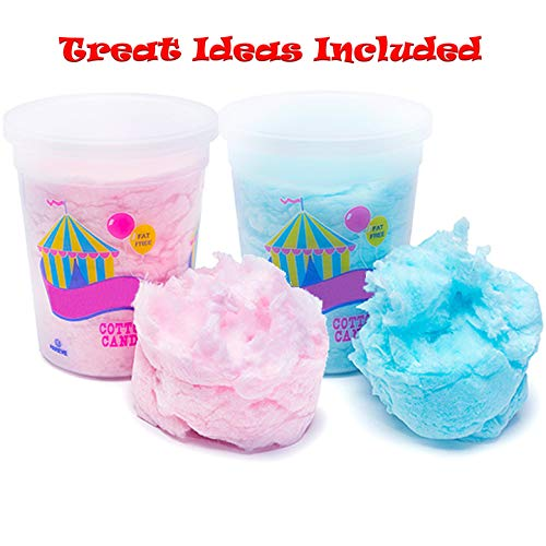 JustSnackin' Cotton Candy, 2 - Tubs (2 oz each) 4 oz Total, Blue and Pink, Treat Ideas Included by JustSnackin' Copyright 2019]()