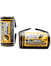 HyperPS Sub C SubC 1800mAh NiCd Ni-Cd Rechargeable Battery for Power Tools Battery Pack (w/Tabs)
