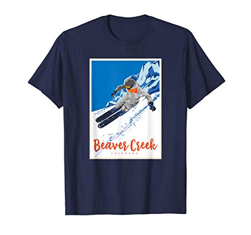 Beaver Creek Ski T-Shirt Skiing Resort Powder Snow Gift Tee