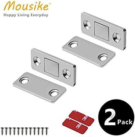 Door Magnet Jiayi 4 Pack Ultra Thin Magnetic Door Catch Drawer Magnet Stainless