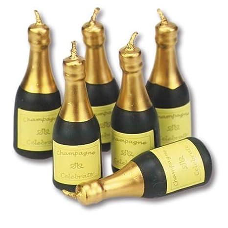 Amazon.com: Staedter Botella de champaña forma velas, Verde ...