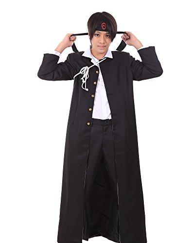 [SDWKIT Naruto Shippuden Konoha Gakuen Special Uzumaki Naruto Outfit Set] (Konoha Shinobi Costume)