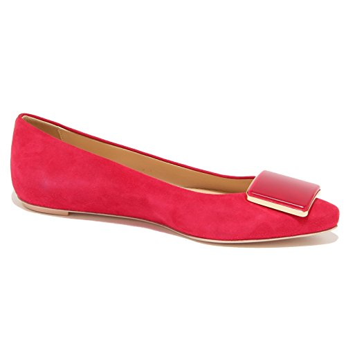96486 ballerina TODS CUOIO scarpa donna shoes women Rosso