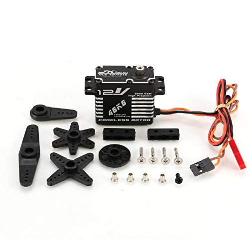 Mouchao JX CLS-12V7346 46KG Direction assistée numérique 12V HV sans Noyau servo pour Voiture RC