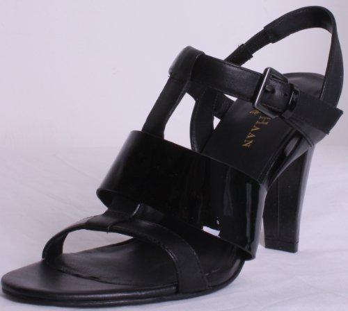 Cole Haan Donna Sandalo Open Toe Open Sandalo Nero Brevetto