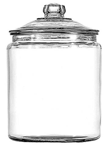 Anchor Hocking 11993ECOM 1-Gallon Heritage Hill Jar with Lid, 2 Pack, Clear