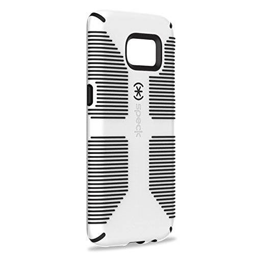 Speck 75870-1909 Dual-Layer CandyShell Grip Case for Galaxy S7 Edge -  White/Black (Hard Case Speck Candyshell)