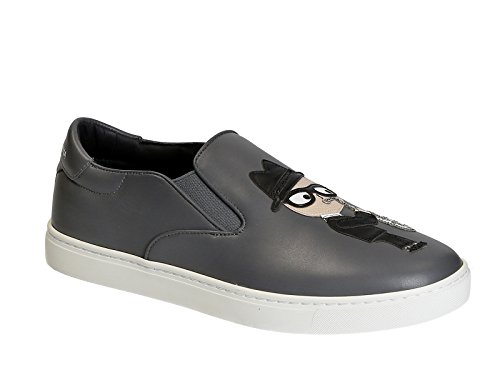 AG311 Grey Gabbana Dolce Model amp; Number In Men's CS1365 Grey 8D760 Slip On Leather Sneakers 6q75pSqx
