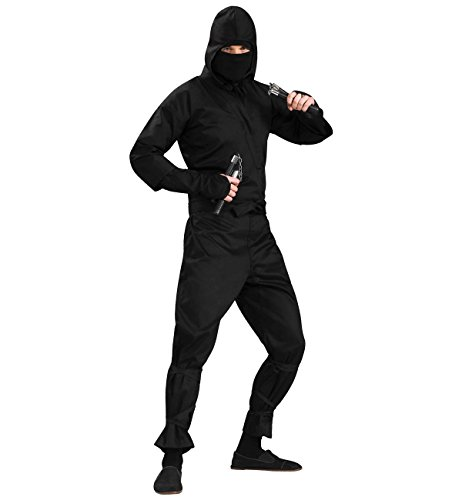 Ninja Costumes Adults (Men's Deluxe Ninja Costume, Black, One Size)