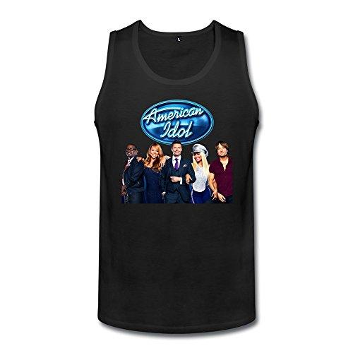 Men's Custom Make American Idol Logo The Judges Host Funny Quotes Tank Top