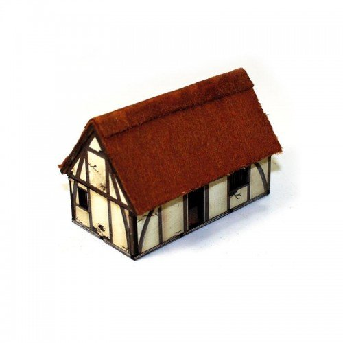 4Ground 15mm Pre Painted Game Terrain - Dark Age/Medieval - Saxon Dwelling